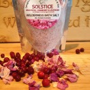 Solstice Bath Salts Infused with Arctic Rose Petals, Wild Cranberries and pure Lavender essential oil